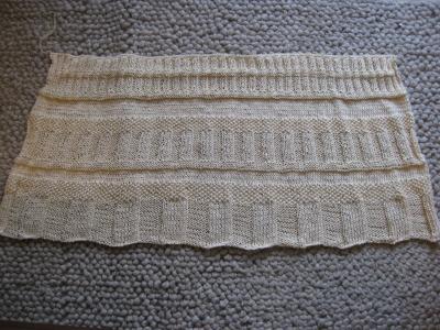 ベビーケープ編みあがり