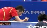 【卓球】 張一博VS許(準決勝) 韓国オープン2012