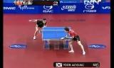 【卓球】 尹在塋 VS 許(準々) 韓国オープン2012