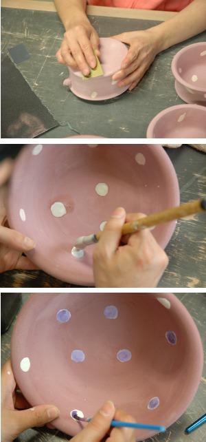 グラタン皿釉掛け・その1.1