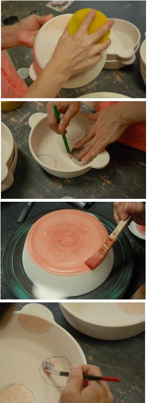 グラタン皿釉掛け・その2.2