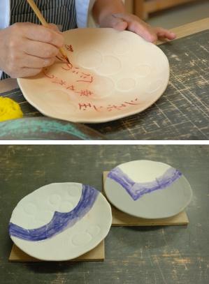 初めての陶芸・釉掛け1
