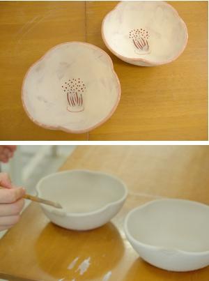初めての陶芸・釉掛け3