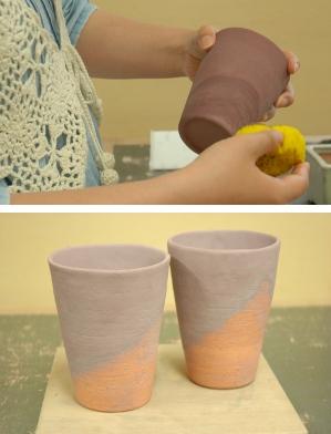 初めての陶芸・釉掛け2