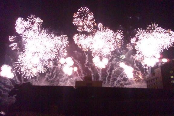 しみずみなと祭り花火