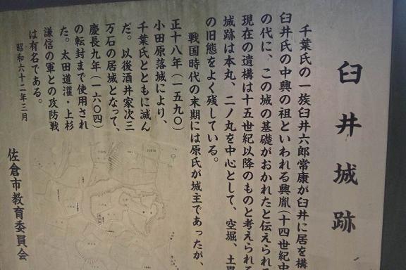 臼井城 説明