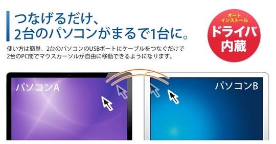 2台のパソコンでファイル共有&マウス操作共有ができる、USBリンクケーブル比較