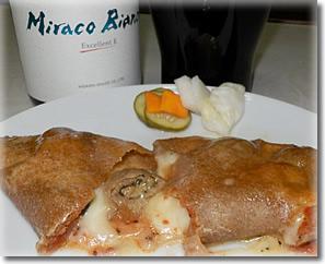 熟成黒豚しそチーズ巻き入りカルツォーネ