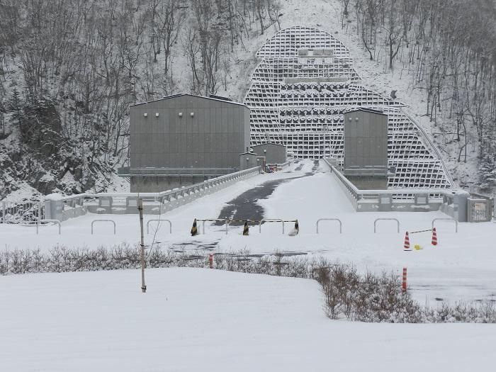湯西川ダム冬期閉鎖12