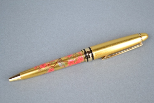 本金箔蒔絵ボールペン(花鳥)