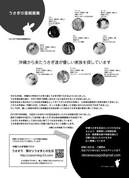 沖縄うさぎ里親募集リーフレット(201207版)mini