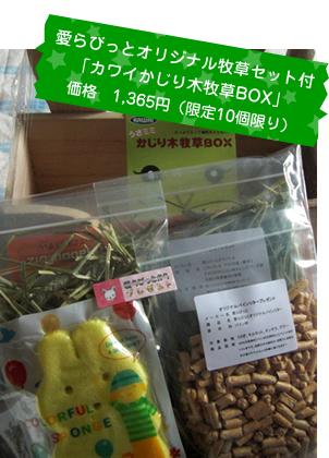オリジナル牧草セット付き「かじり木牧草BOX」