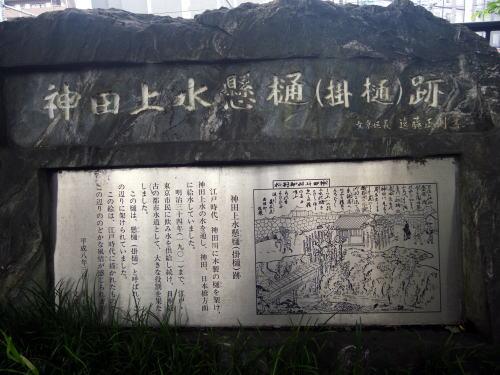 神田上水掛樋跡の碑