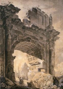 ユベール ロベール「セプティミウス・セウェルス門のヴァリエーション」