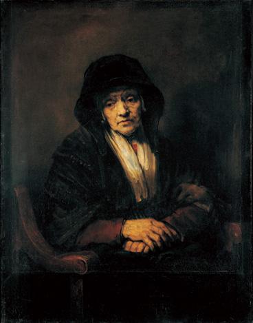 レンブラント・ファン・レイン  老婦人の肖像