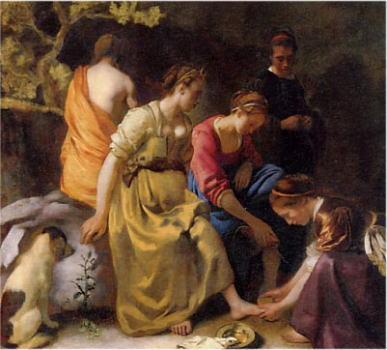 ヨハネス・フェルメール 「ディアナとニンフたち」1653-1654年頃