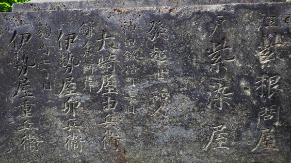 井の頭「紫灯籠」の碑文