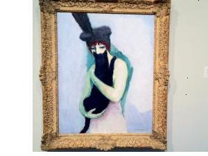 ヴァン・ドンゲンの『猫を抱く女』