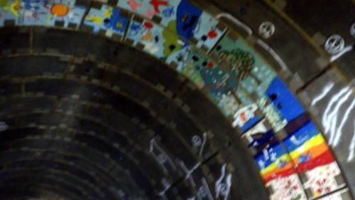善福寺川取水施設 地下トンネル 小学生の絵画