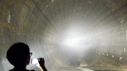 善福寺川取水施設 太いトンネル