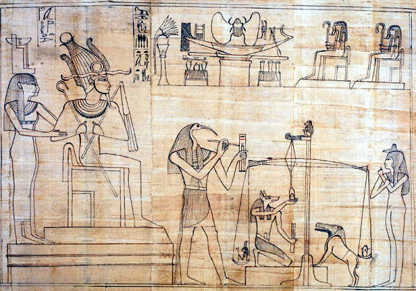 オシリス神による審判の場面