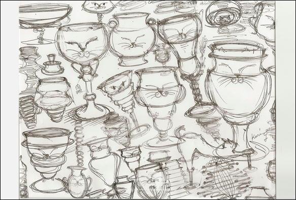 ワイングラスの落書き