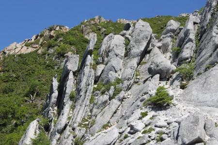 花崗岩の割れ目