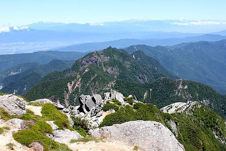 鋸岳と北アルプス
