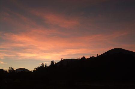 火打山の夕景