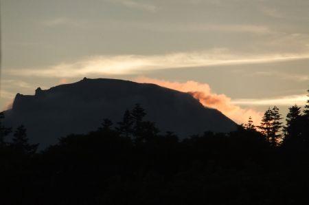 焼山の夕景