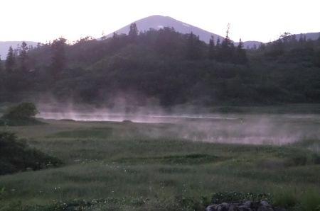 湿原から発生する水蒸気