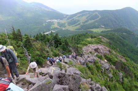 水ノ塔山の登り