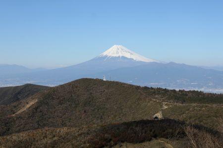 金冠山と富士山