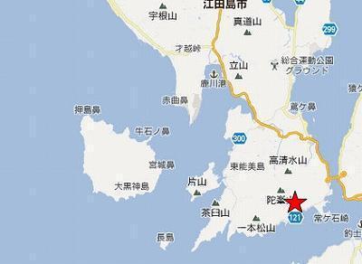 江田島地図2分割南(陀峯山右下)