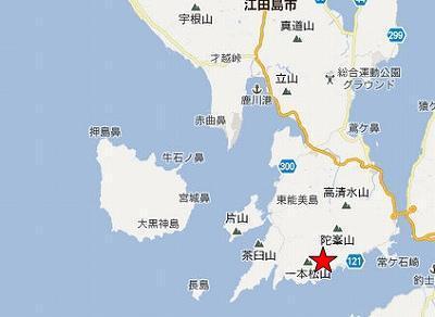 江田島地図2分割南(陀峯山左下C)
