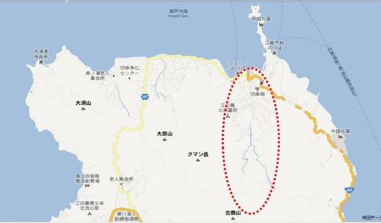 グーグル地図(大須・切串)長谷川