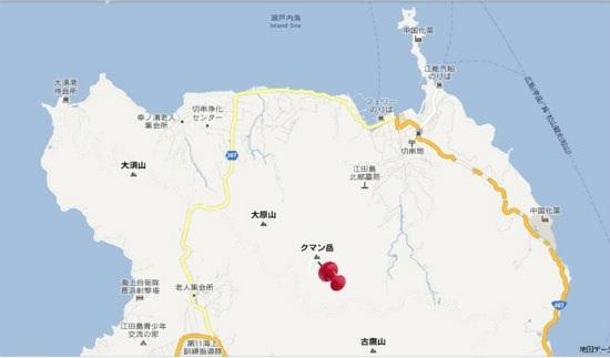 グーグル地図(大須・切串)クマン岳