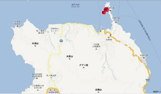 グーグル地図(大須・切串)屋形石