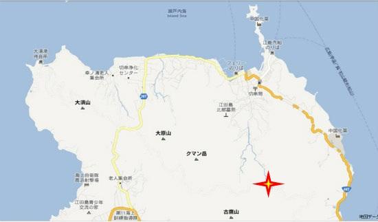 グーグル地図(大須・切串)古鷹ビオトープ