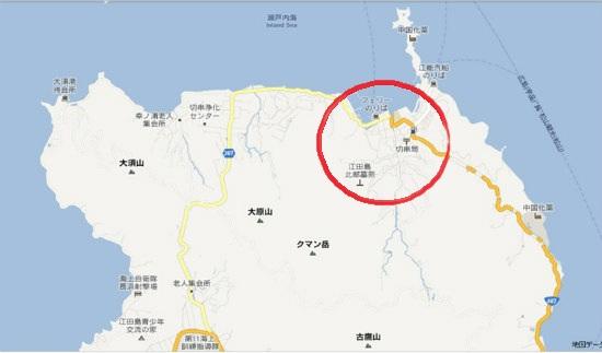 グーグル地図(大須・切串)切串の町