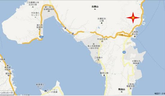 グーグル地図(津久茂・小用)水晶山