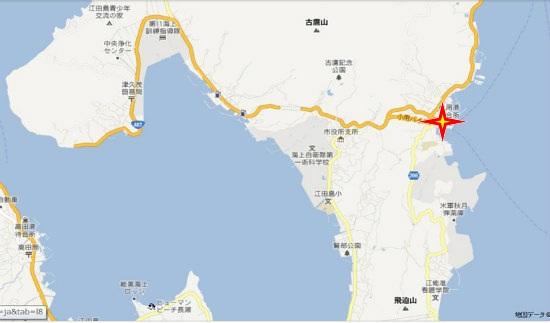 グーグル地図(津久茂・小用)小用港海上自衛隊桟橋