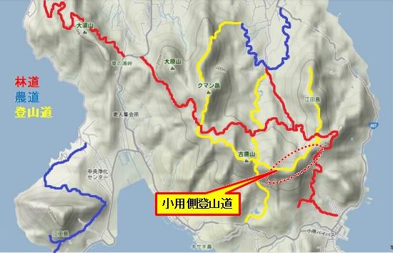 林道・農道・登山道(小用登山道)