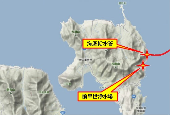 1)江田島町北部・前早世浄水場