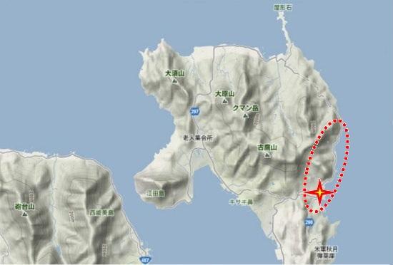 1)江田島町北部・小用