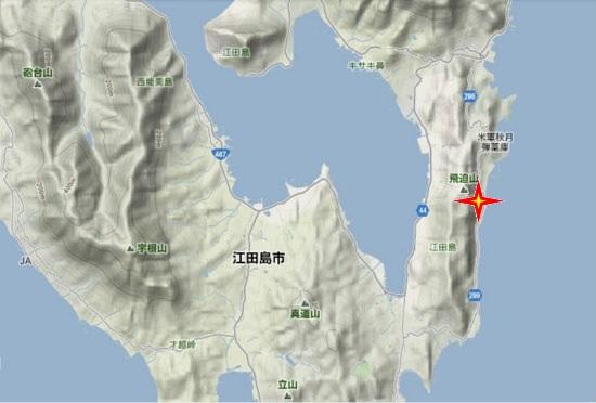 2)江田島町南部・秋月神社