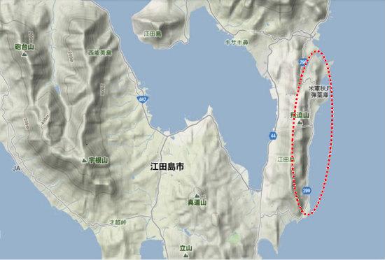 2)江田島町南部・秋月・川・水源b