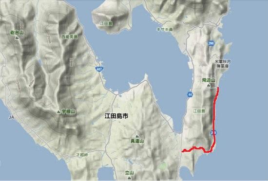 2)江田島町南部・県道299号