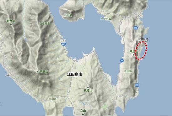 2)江田島町南部・秋月町並み