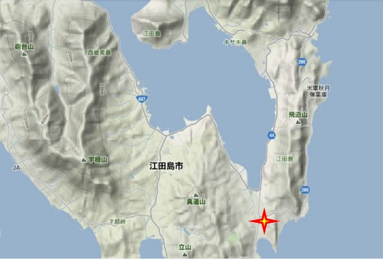 2)江田島町南部・江南荒神社